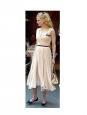 Robe en mousseline de soie plissée blanche NEUVE Prix boutique 3000€ Taille 36