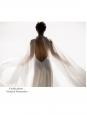 Robe de mariée LIBELLULE dos nu en crêpe de soie blanc ivoire Prix boutique 2300€ Taille 36