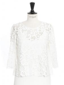 Top ENVOLEE en dentelle guipure blanc ivoire Prix boutique 520€ Taille 36