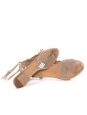 Pink beige suede fringed flat sandals Retail price €450 Size 37