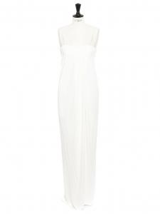 Robe longue fluide HORMA blanc neige à fines bretelles NEUVE Prix boutique 2400€ Taille 38