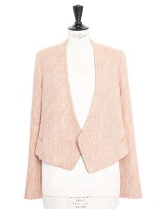 Veste courte en tweed rose argile Prix boutique 1200€ Taille 38