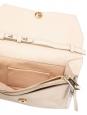 Sac pochette RACHEL en cuir beige rosé et noeud doré Prix boutique 895€