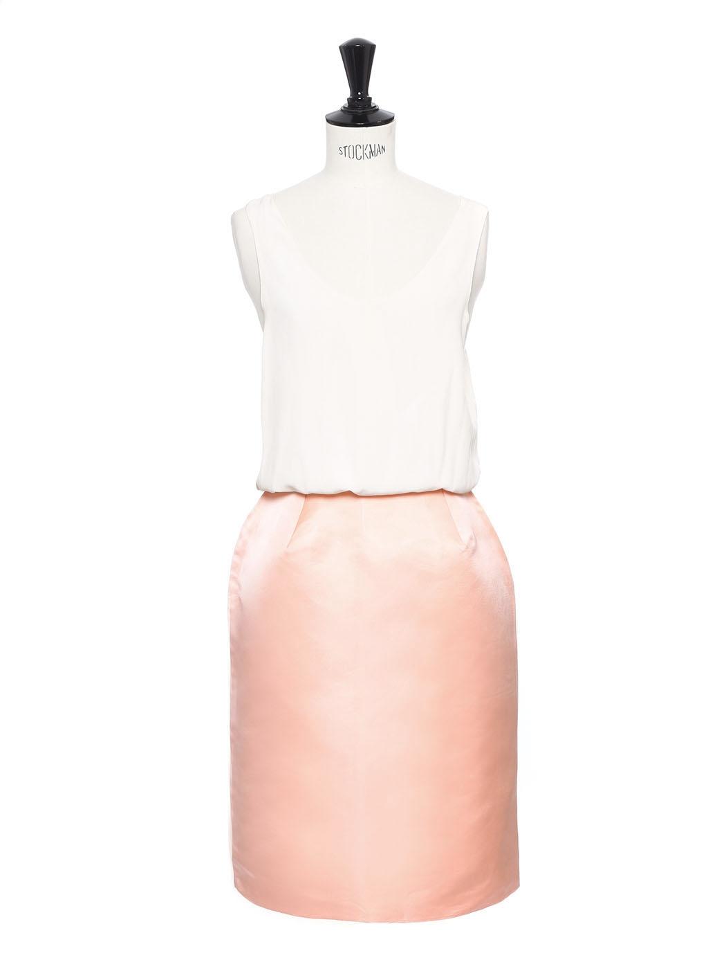 647ec9a44316dd Louise Jupe Crayon Prix Boutique En Paris Rose Soie Chloe Gazar De ...