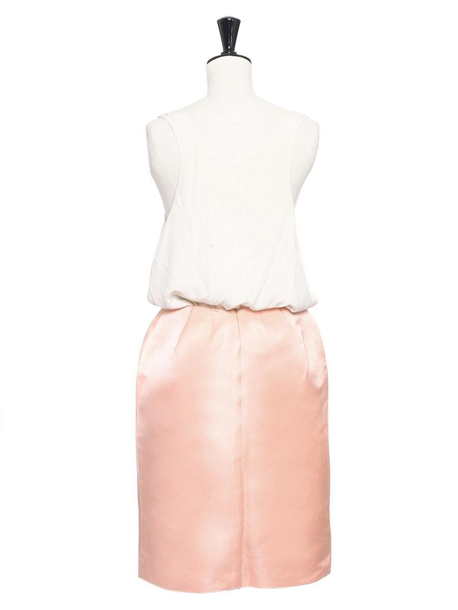 louise paris chloe jupe crayon en gazar de soie rose prix boutique 950 taille 34. Black Bedroom Furniture Sets. Home Design Ideas