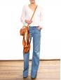 Jean flare en coton denim bleu clair Prix boutique 200€ Taille 38