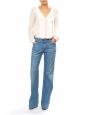 Light blue denim flared jeans Retail price €200 Size M