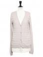 Beige pink silk and cotton cardigan Retail price €550 Size 38