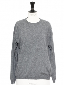 Heather grey cashmere sweater Retail price €329 Size M