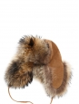 Brown and beige fur trapper eskimo hat Size S/M (56/57)