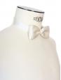 White ecru silk PALACE bow tie Unique size