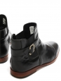 Black leather ankle boots Retail price €179 Size 40