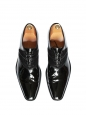 Black patent leather and suede calf Oxford shoes Retail price €610 Size 43.5