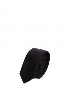 Cravate fine classique en soie noire Prix boutique 125€