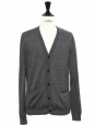 Heather grey merino wool cardigan Retail price €180 Size L