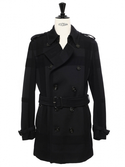 order online a few days away marketable Louise Paris - BURBERRY LONDON Navy blue wool trench coat ...