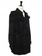 Navy blue wool trench coat Retail price €1800 Size 48 / S