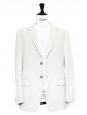 Ecru classic blazer jacket Retail price €950 Size 50 / M