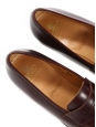 Cognac brown leather ROEDEAN loafers Retail price €495 Size 40