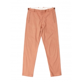 Salmon pink cotton tapered chino pants Retail price €165 Size 44