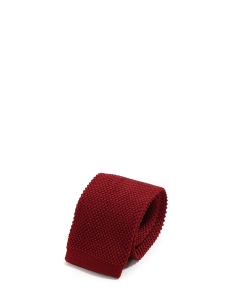 Burgundy red wool knitted squared bottom tie NEW