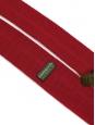 Cravate tricotée en maille de laine rouge à bout carré NEUVE