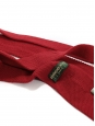 Red wool knitted squared bottom tie NEW