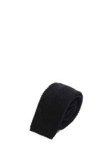 Black wool knitted squared bottom tie NEW