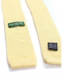 Yellow wool knitted squared bottom tie NEW