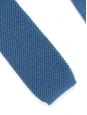 Blue wool knitted squared bottom tie NEW