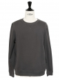 Slate grey linen and cotton round neck jumper Retail price €135 Size S