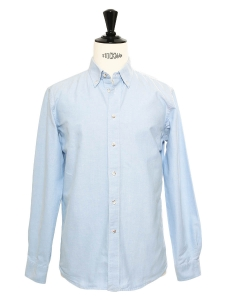 Light blue cotton Oxford shirt Retail price €64 Size S
