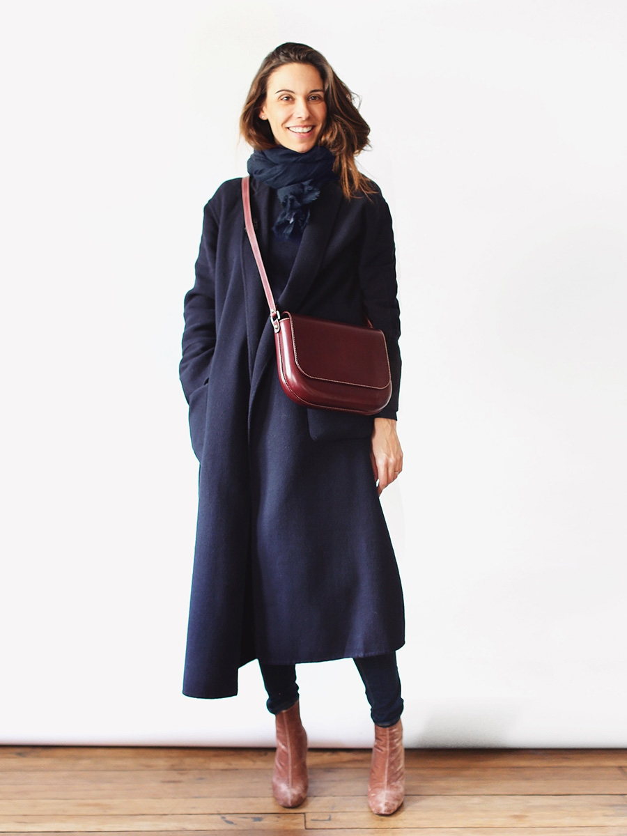 Louise paris apc sac lea en cuir v g tal bordeaux lie de for Lea boutique