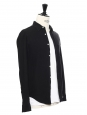 Black cotton and linen long sleeves shirt Size XS