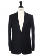 Black wool suit Retail price €2000 Size 44