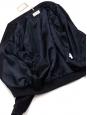 Veste teddy THE FERRIS en suède bleu marine NEUVE Prix boutique 990€ Taille S