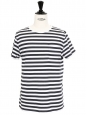 Navy blue and white striped Breton shirt NEW Retail price €80 Size S