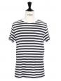 T-shirt marinière rayé bleu marine et blanc NEUF Prix boutique 80€ Taille S