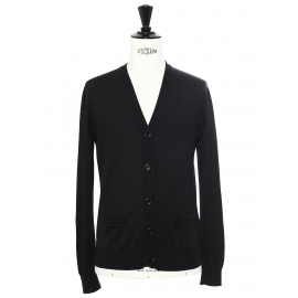 Black fine wool cardigan Retail price €480 Size S