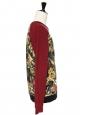Pull sweat Homme en coton bordeaux imprimé tropical Prix boutique 180€ Taille M
