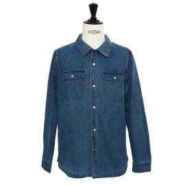 Chemise en jean bleu denim Prix boutique 165€ Taille L