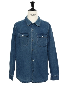 Blue cotton denim shirt Retail price €165 Size L