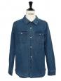 Blue cotton denim shirt Retail price €165 Size L