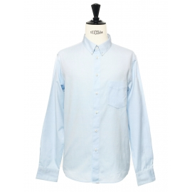 Light blue cotton button-down Oxford shirt NEW Retail price €150 Size L