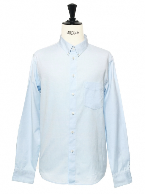 Chemise Oxford en coton bleu clair NEUVE Prix boutique 150€ Taille L