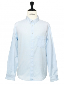 Sky blue cotton button-down Oxford shirt NEW Retail price €150 Size L