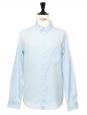 Sky blue cotton button-down Oxford shirt NEW Retail price €150 Size L