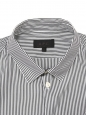Navy blue and white striped cotton shirt NEW Retail price €150 Size S
