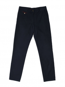 Navy blue cotton-twill BRIX chino pants NEW Retail price €80 Size L