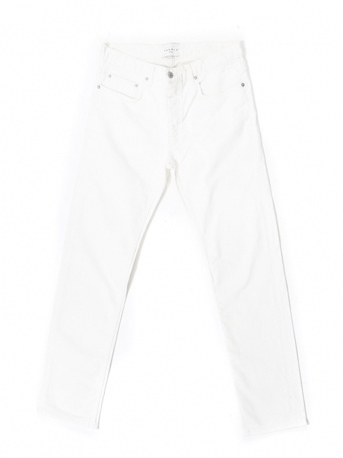 White cotton straight cut jeans Retail price €145 Size 33